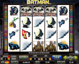 Batman - One of the most Popular Slots played by Super Slots Players